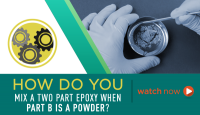How Do You Mix a Two Part Epoxy When Part B is a Powder?